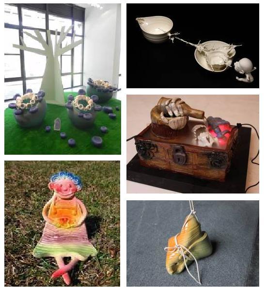陶艺小动物形状的碗
